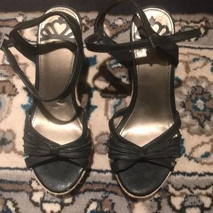 Black wedge sandals/heels!